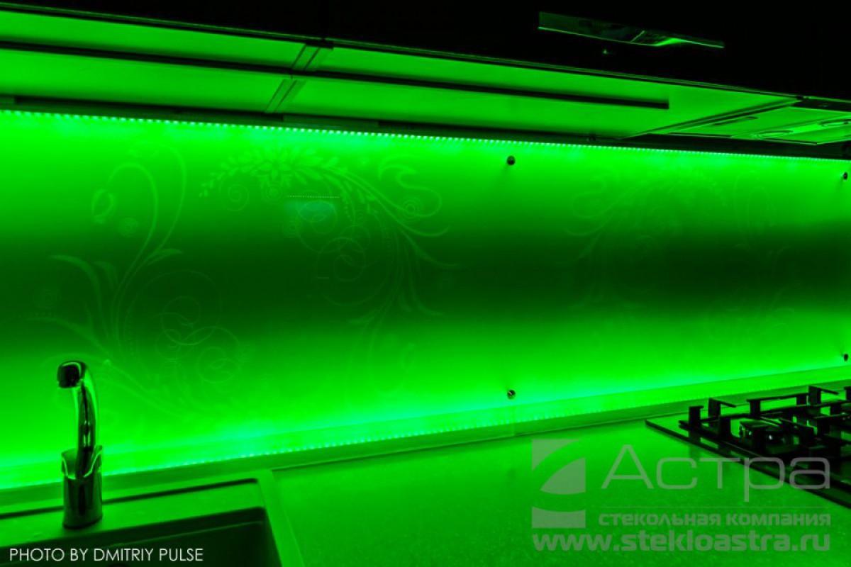 Панель для кухни с подсветкой